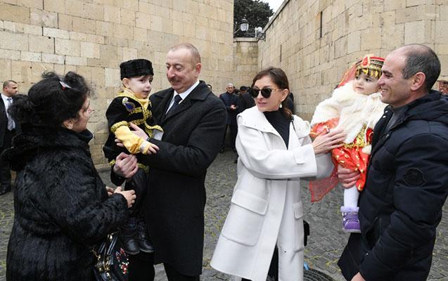 Prezidentlə xanımının Novruz şənliyindən maraqlı