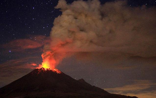 Popokatepetl vulkanı aktivləşdi