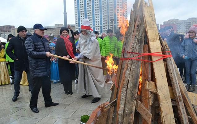 Yasamalda Novruz bayramı qeyd edildi