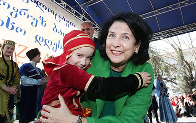 Zurabişvili Novruz şənliyində