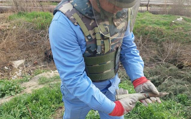 Xətai rayonunda top mərmisi aşkarlandı
