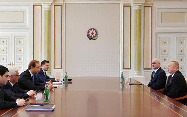 Prezident Denis Manturovu qəbul etdi - Foto