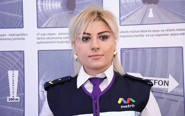 Metroda ilk dəfə qadın maşinist işə götürüldü
