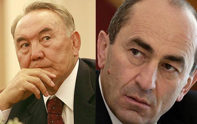 Nazarbayevdən Koçaryana məktub