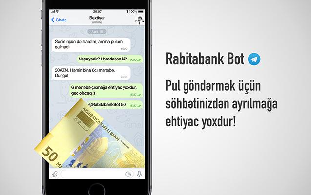 """""""Rabitabank Bot""""dan daha bir yenilik"""