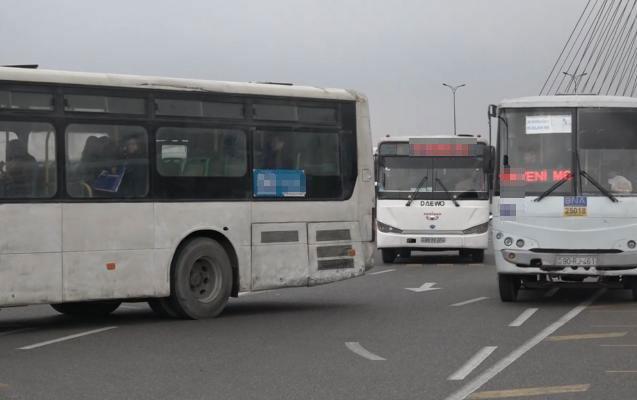 Bakıda avtobus sürücüləri dalaşdı