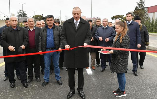 Prezident Mərdəkan-Qala yolunun açılışında