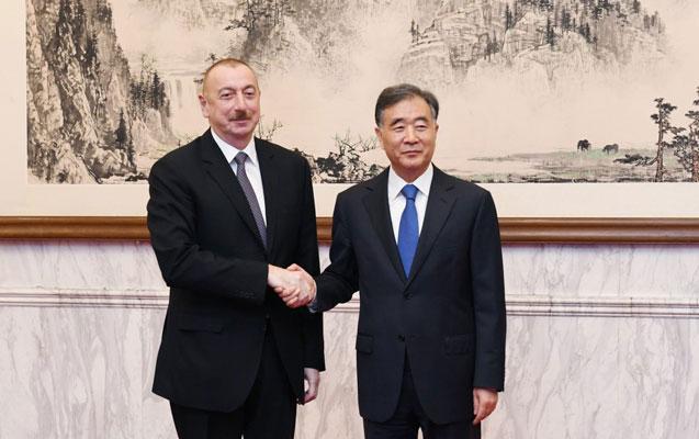 İlham Əliyev Van Yanla görüşdü