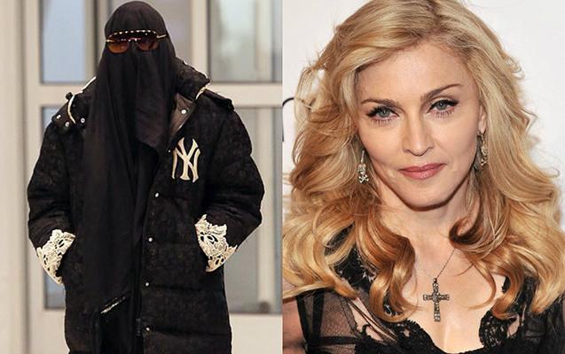 Madonna hava limanına niqabda gəldi