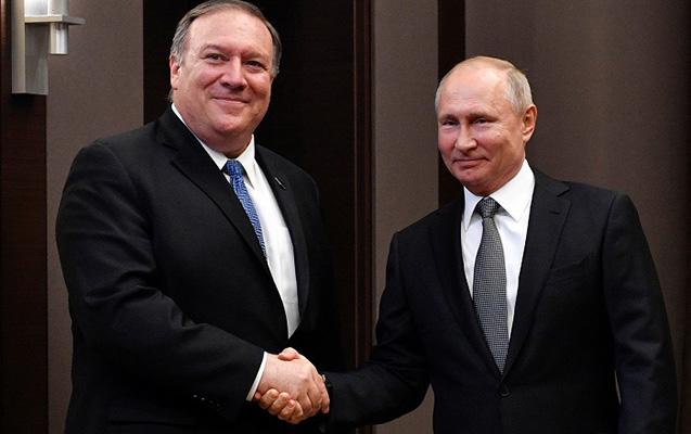 Putin Soçidə Pompeo ilə görüşüb