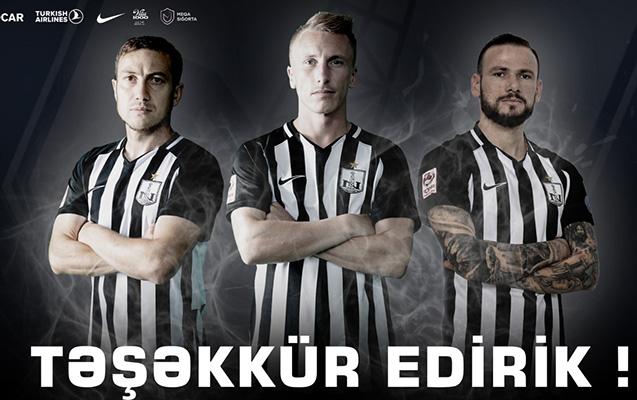 """""""Neftçi"""" bu 3 futbolçu ilə yollarını ayırdı"""