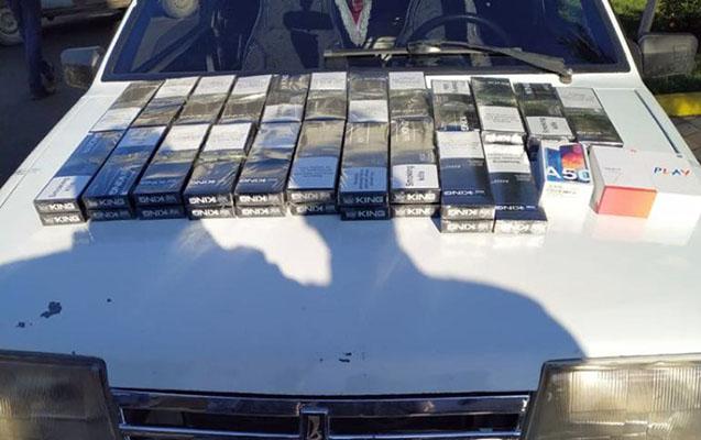 """Maşından 2 """"Redmi 7"""" və 1 """"Samsung A50"""" tapıldı"""