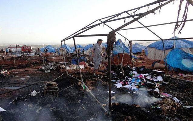 Suriyada fələstinlilərin düşərgəsi bombalandı