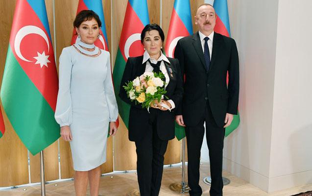 Prezidentlə xanımı İrina Viner-Usmanova ilə görüşdü
