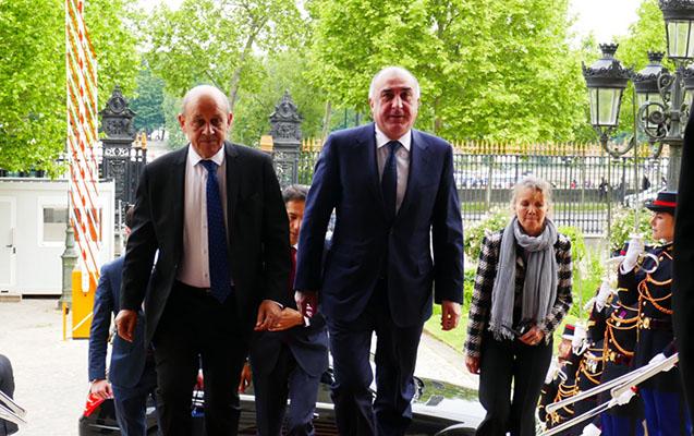Məmmədyarov Fransa XİN başçısıyla Qarabağdan danışdı