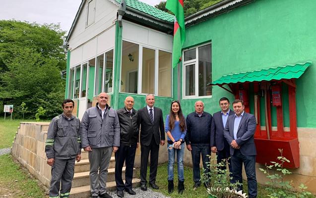 Leyla Əliyeva Şahdağ Milli Parkında zubrlara baxdı