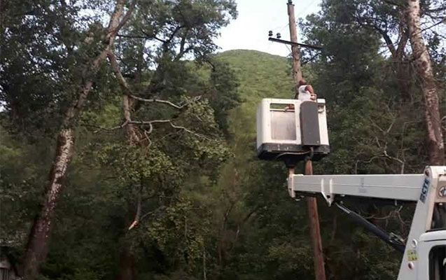 Şimal bölgəsində elektrik enerjisinin verilişi bərpa edilib