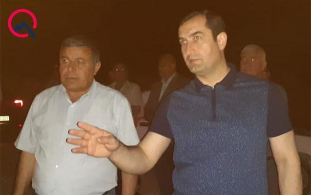 İcra başçısı gecəyarısı yanan əraziyə gəldi - Foto