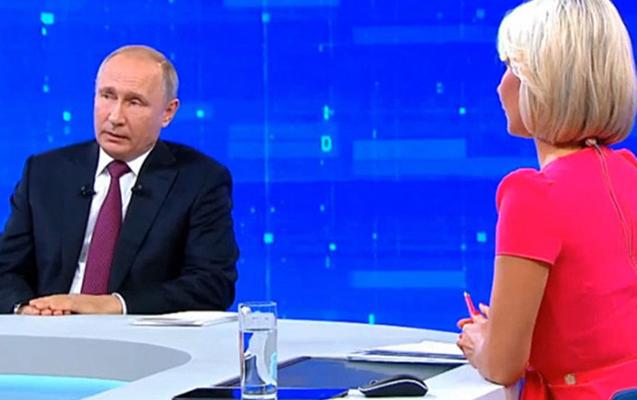 Putinin canlı yayımına haker hücumu oldu