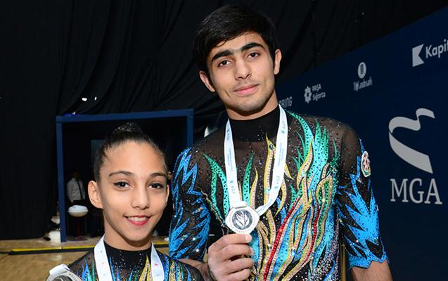 Gimnastlarımız gümüş medal qazandı