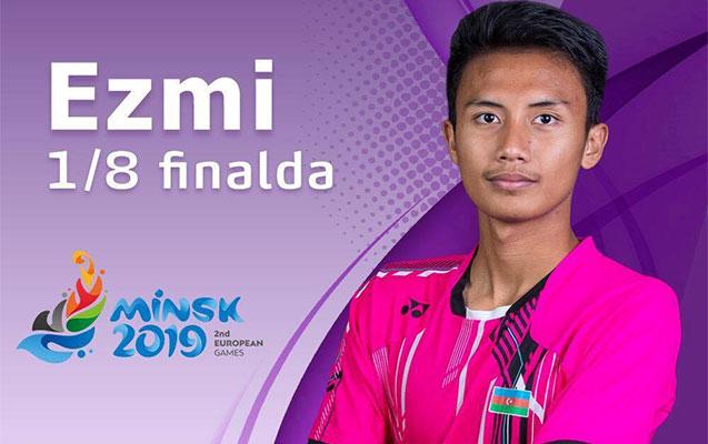 Badmintonçumuz 1/8 finala vəsiqə qazandı