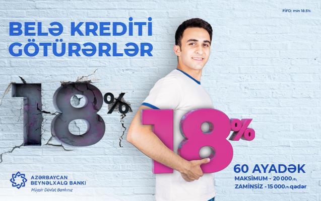 Azərbaycan Beynəlxalq Bankında kreditlərə güzəşt