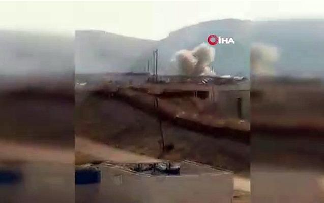 Türkiyə hərbçiləri atəşə tutuldu, 1 şəhid - Video