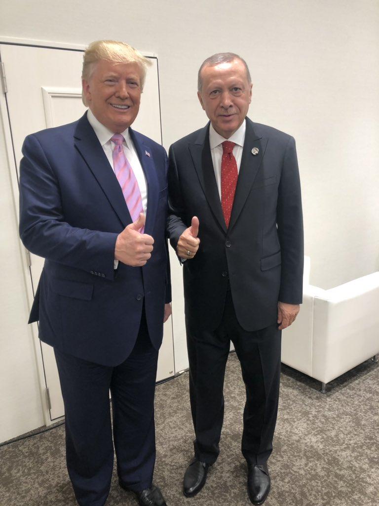 Ərdoğan Tramp, Putin və Makronla bir arada - Fotolar
