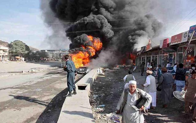 Əfqanıstanda bazarda partlayış - 6 ölü, 30 yaralı