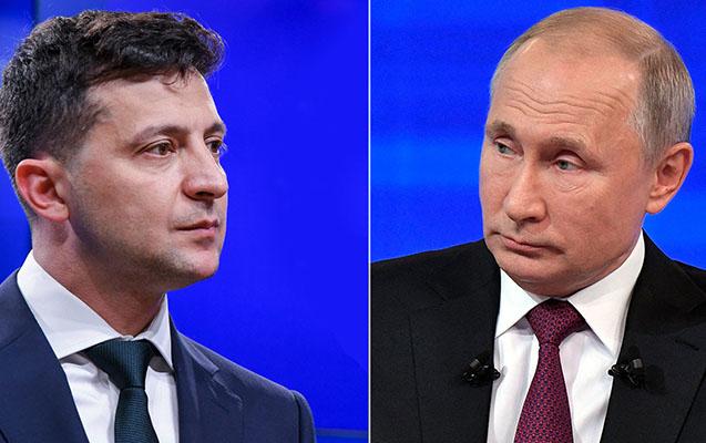 Putinlə Zelenski telefonda danışdı - İlk dəfə