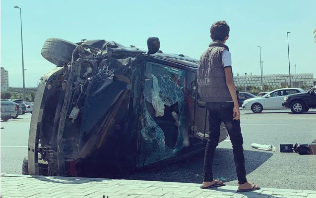 """Dünənki """"Lexus"""" qəzasında sürücünün oğlu ölüb"""