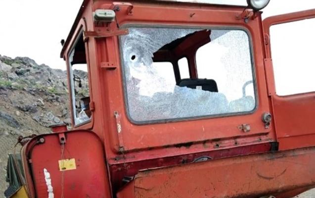 Ermənilər Göygöldə traktora atəş açdı