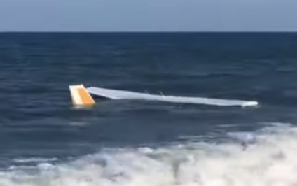 Təyyarə okeana düşdü