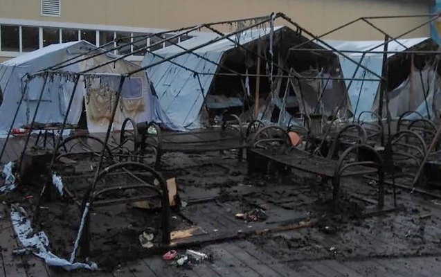Rusiyada çadır düşərgəsində yanğın