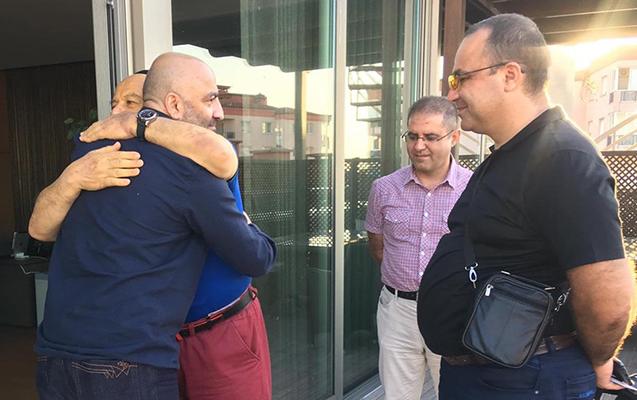 Mənsimov Türkiyədə müalicə olunan Xalq artisti ilə görüşdü - Fotolar
