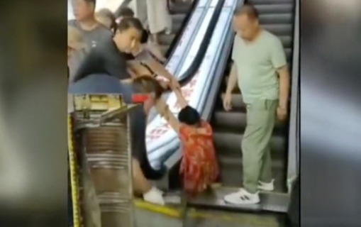 Nasaz eskalator qadının ayağını kəsdi