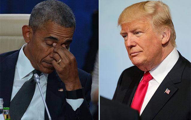 Tramp Ağ Evdəki havaya görə Obamanı günahlandırdı