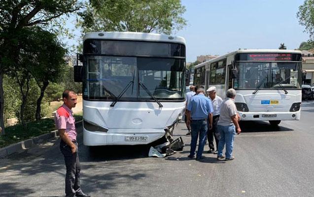 Bakıda avtobusla maşın toqquşdu - 1 ölü, 2 yaralı