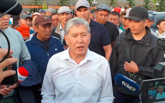 Atambayev xalqa atəş açmamağı tələb etdi - Video