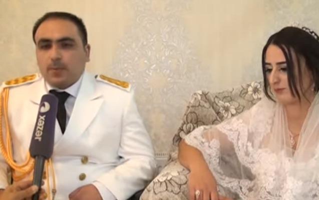 Aprel döyüşlərinin iştirakçısı evləndi - Video