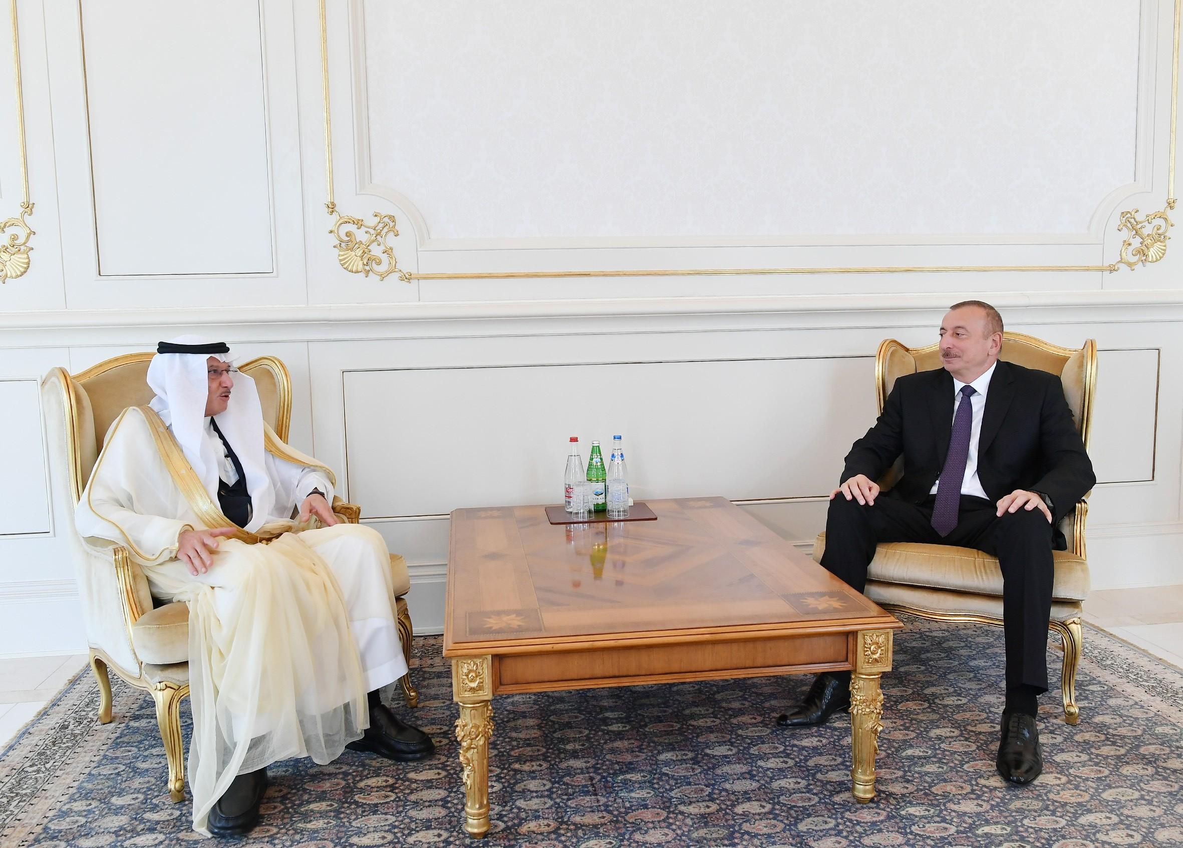 Prezident İslam Əməkdaşlıq Təşkilatının Baş katibi qəbul edib