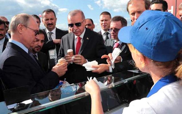 Putin Ərdoğanla dondurma yedi