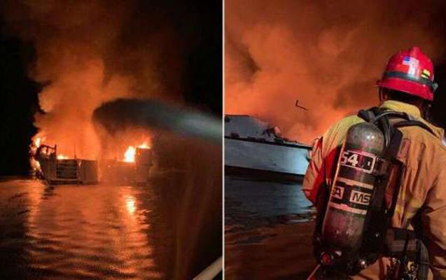 Kaliforniyada gəmi yandı - 30 ölü