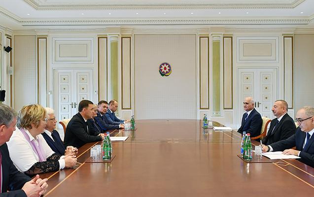 İlham Əliyev qubernatoru qəbul etdi