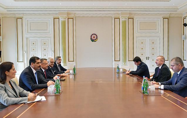 Türkiyənin Vitse-prezidenti İlham Əliyevin qəbulunda