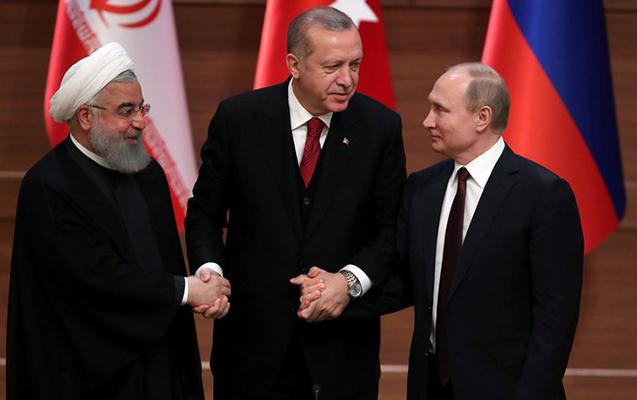 Ankarada Ərdoğan, Putin və Ruhani arasında görüş