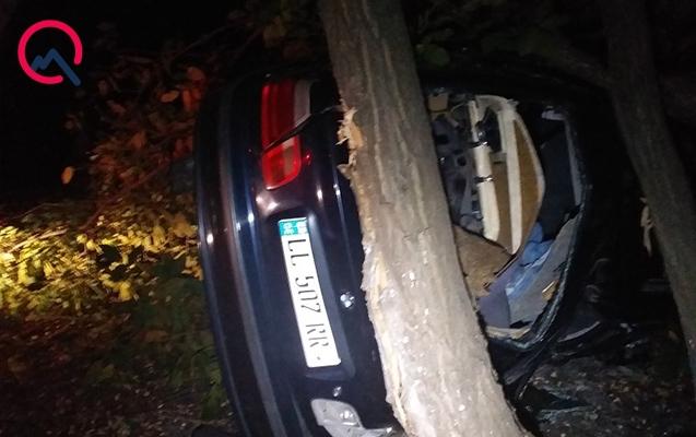Qaxda maşın ağaca dəyib aşdı, sürücü yaralandı
