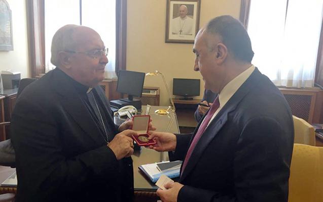 Məmmədyarov Vatikanda Kardinalla görüşdü