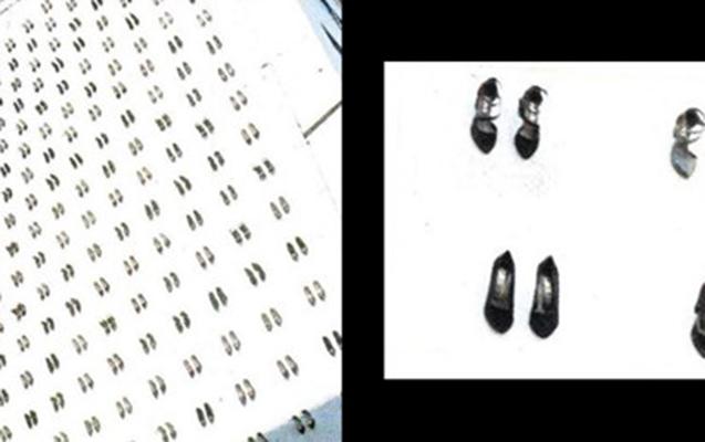 Öldürülən qadınların sayı qədər binadan ayaqqabı asıldı