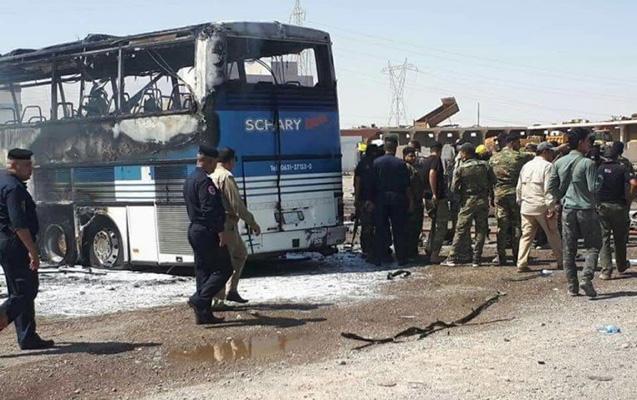 Kərbəlada sərnişin avtobusu partladıldı - 12 nəfər ölüb